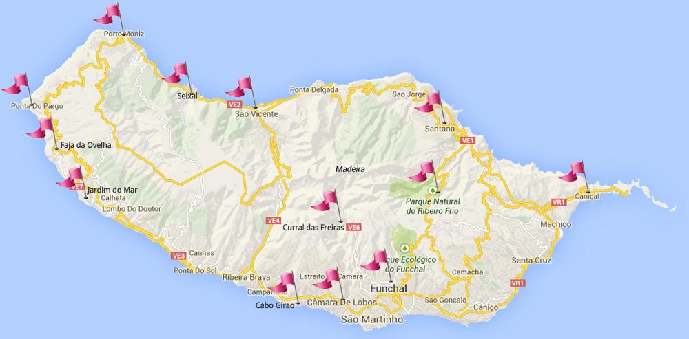 Madeiran Huikeimmat Maisemareitit