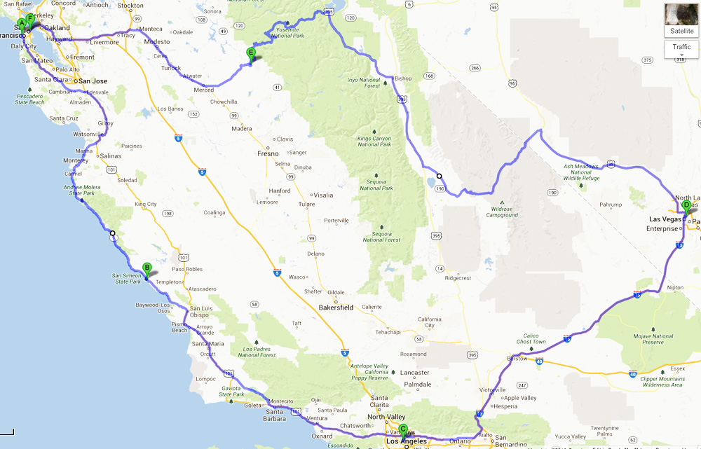 Tältä näyttää Amerikan autoloman reitti kartalla
