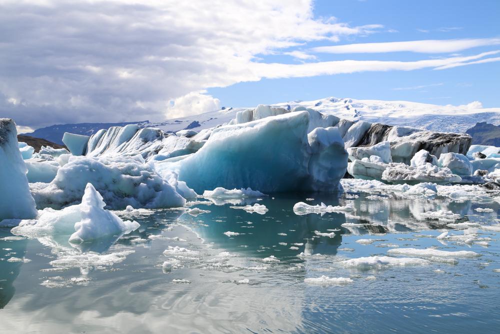 Tältä näyttää jäätikkölaguunilla
